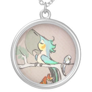 Parrots Silver Plated Necklace