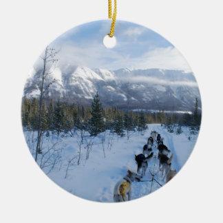 ParrotSleds - Landscape Christmas Ornament
