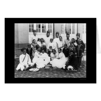 Parsee Wedding Party India 1898 Greeting Card