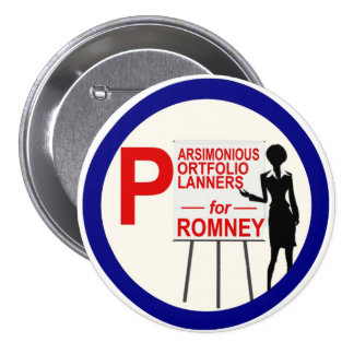 Parsimonious Portfolio Planners for Romney 7.5 Cm Round Badge