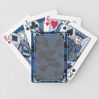 parsley leaf blue poker deck