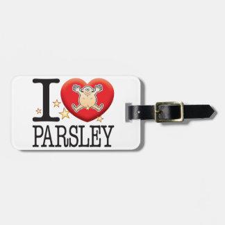 Parsley Love Man Luggage Tag