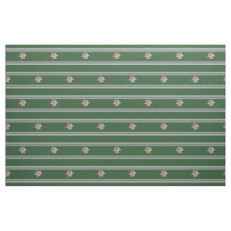 Parsley Poinsettia Stripes Fabric