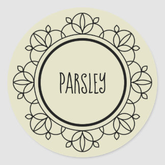 Parsley spice labels