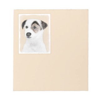Parson Jack Russell Terrier Painting - Dog Art Notepad