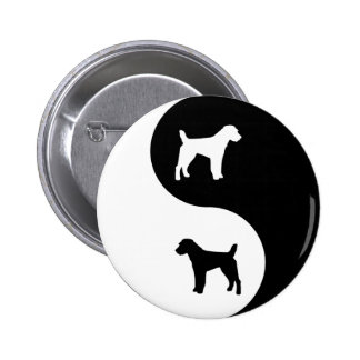 Parson Jack Russell Yin Yang 6 Cm Round Badge