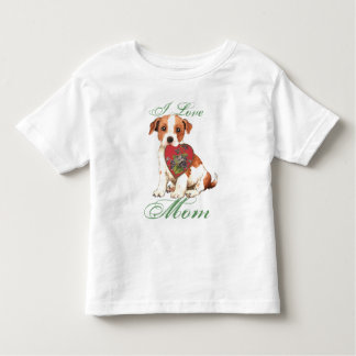 Parson Russell Heart Mom Tee Shirts
