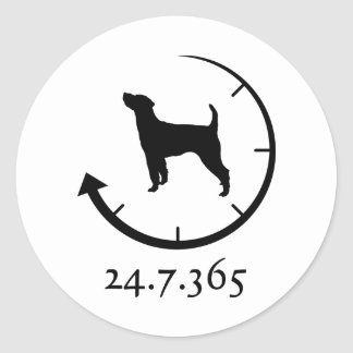 Parson Russell Terrier Classic Round Sticker