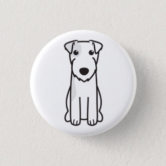Parson Russell Terrier Dog Cartoon 3 Cm Round Badge
