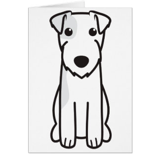 Parson Russell Terrier Dog Cartoon Card