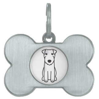 Parson Russell Terrier Dog Cartoon Pet ID Tag