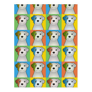 Parson Russell Terrier Dog Cartoon Pop-Art Postcard