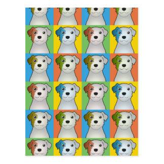 Parson Russell Terrier Dog Cartoon Pop-Art Postcard