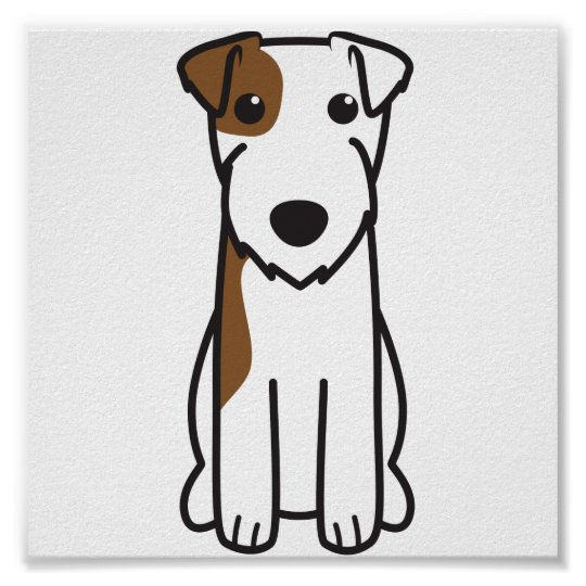 Parson Russell Terrier Dog Cartoon Poster