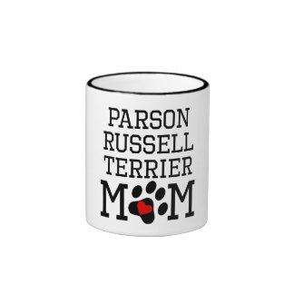Parson Russell Terrier Mom Ringer Mug