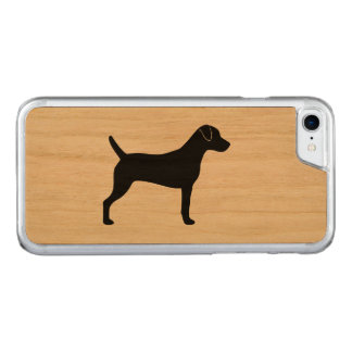 Parson Russell Terrier Silhouette Carved iPhone 8/7 Case