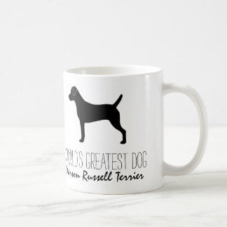 Parson Russell Terrier Silhouette with Text Coffee Mug
