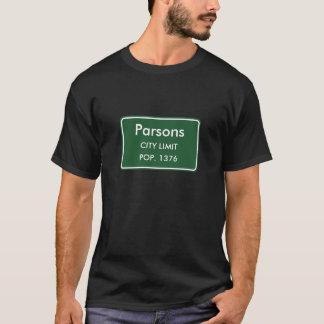 Parsons, WV City Limits Sign T-Shirt
