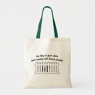 Part Akita Part Fence-Jumper Budget Tote Bag