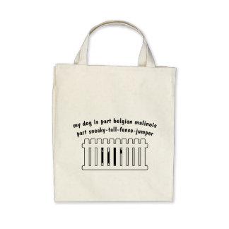 Part Belgian Malinois Part Fence-Jumper Canvas Bag