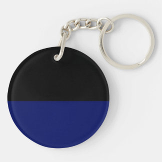 Part black part dark blue do it yourself DIY Double-Sided Round Acrylic Key Ring