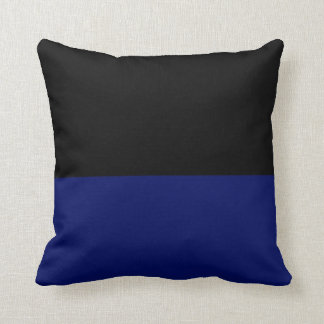 Part black part dark blue do it yourself DIY Throw Cushion