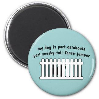 Part Catahoula Part Fence-Jumper 6 Cm Round Magnet