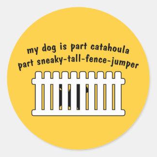 Part Catahoula Part Fence-Jumper Round Sticker