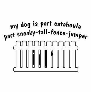 Part Catahoula Part Fence-Jumper Standing Photo Sculpture