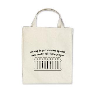 Part Clumber Spaniel Part Fence-Jumper Canvas Bag