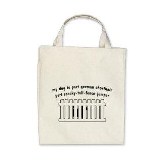Part German Shorthair Part Fence-Jumper Canvas Bags