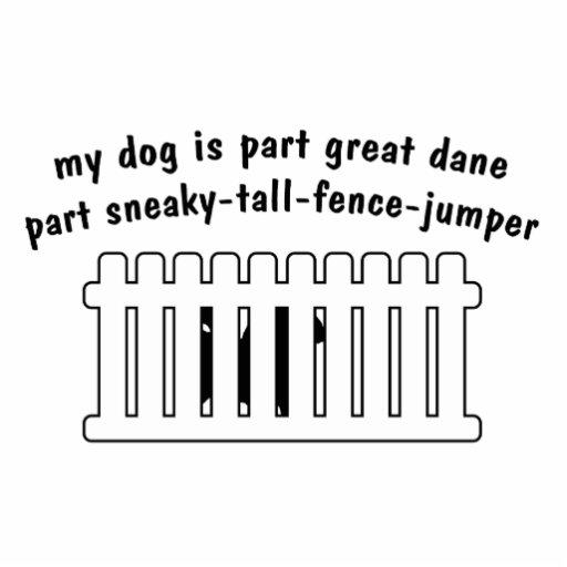 Part Great Dane Part Fence-Jumper Standing Photo Sculpture