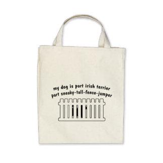 Part Irish Terrier Part Fence-Jumper Canvas Bag