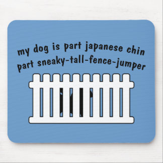 Part Japanese Chin Part Fence-Jumper Mouse Pads