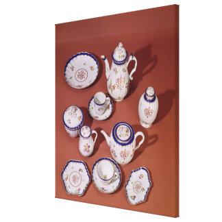Part of a Worcester monogrammed tea service Canvas Print
