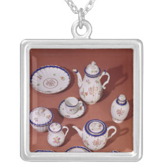 Part of a Worcester monogrammed tea service Silver Plated Necklace