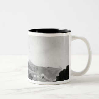 Part of British Army forming before Port Louis Two-Tone Coffee Mug