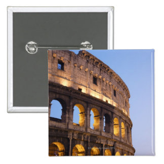 Part of Colosseum at dusk 15 Cm Square Badge