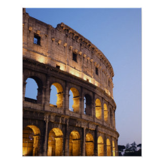Part of Colosseum at dusk Poster