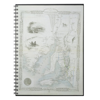 Part of South Australia, from a Series of World Ma Spiral Notebook