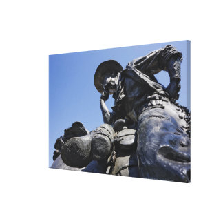 Part of the Cattle Drive sculpture in Downtown Canvas Print