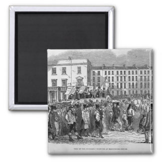 Part of the Chartist Procession Square Magnet