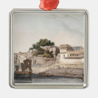 Part of the City of Patna, on the River Ganges, pl Christmas Ornament
