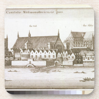 Part of the City of Westminster 1647 engraving Beverage Coaster