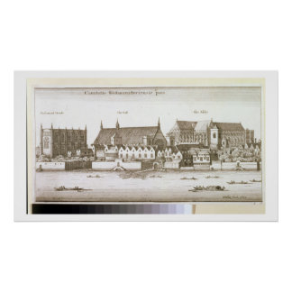 Part of the City of Westminster, 1647 (engraving) Posters