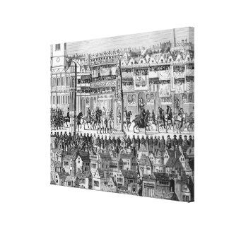 Part of the Coronation Procession Canvas Print