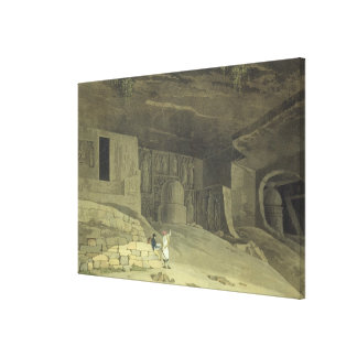 Part of the Kanaree Caves, Salsette, plate 62 from Canvas Print