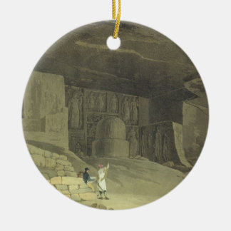 Part of the Kanaree Caves, Salsette, plate 62 from Christmas Ornament