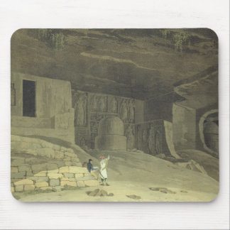 Part of the Kanaree Caves, Salsette, plate 62 from Mouse Pad