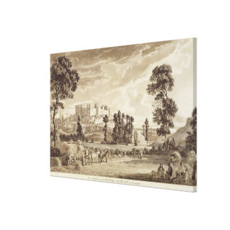 Part of the Town and Castle of Ludlow in Shropshir Canvas Print